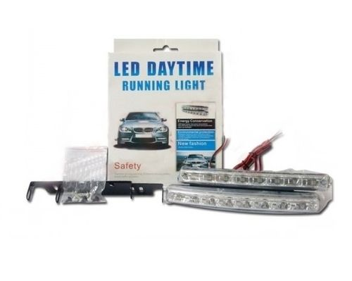2 FEUX DE JOURS 8 LED 6000K DIURNE BANDEAU LED TUNNING